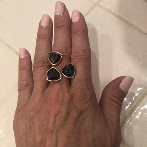 Dara Ettinger • Three Stone Statement Ring
